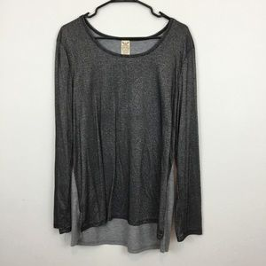 FADED GLORY SPARKLE CONTRAST TOP